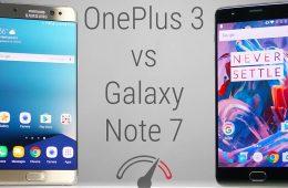 oneplus 3 vs Samsung Galaxy note 7