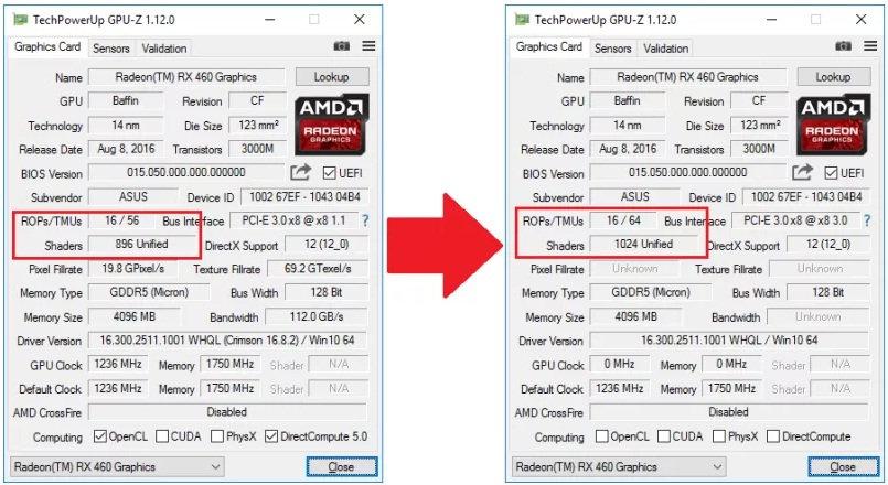 rx460 1024 stream processors