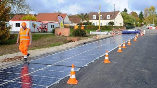 estrada painel solar frança