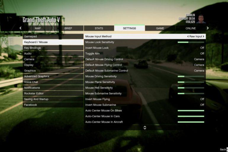 Opções gráficas do GTA 5