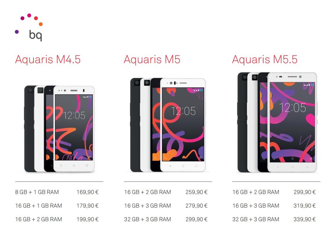 Preços BQ Aquaris M