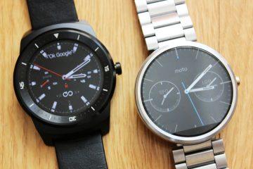 moto 360 vs LG G Watch R - Comparativo_