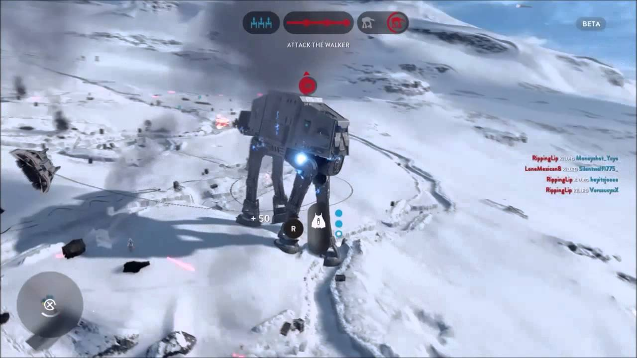 star Wars Battlefront AT-AT takedown