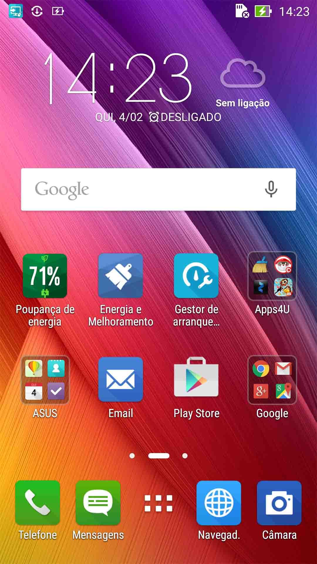 Apps in Zenfone 2