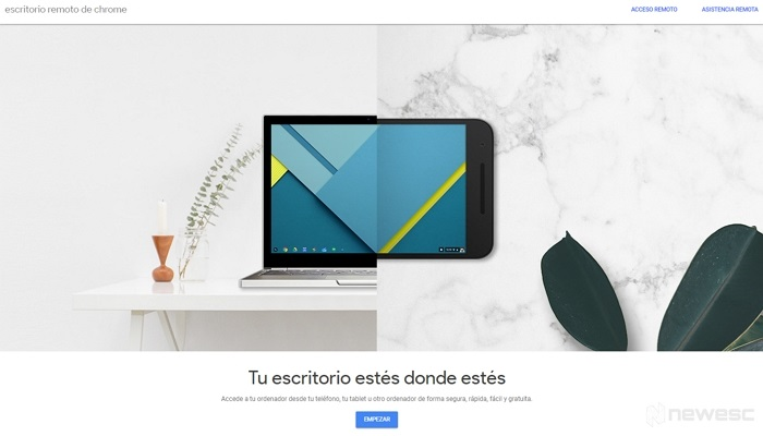 Alternativa Escritorio remoto de Chrome