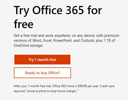 Descargar Office Gratis en modo Prueba