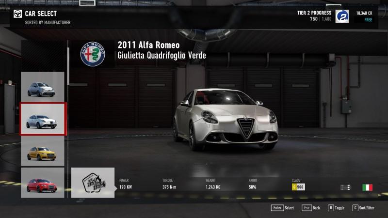 Forza 7 alfa romeu