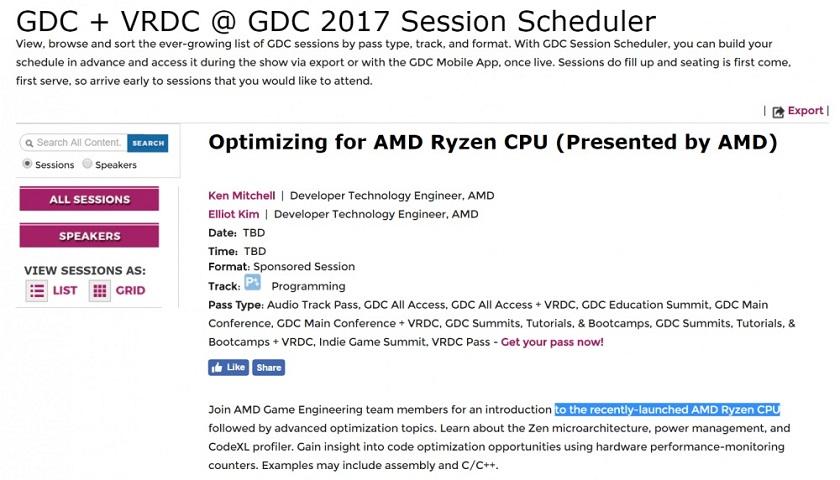 GDC AMD RYZEN