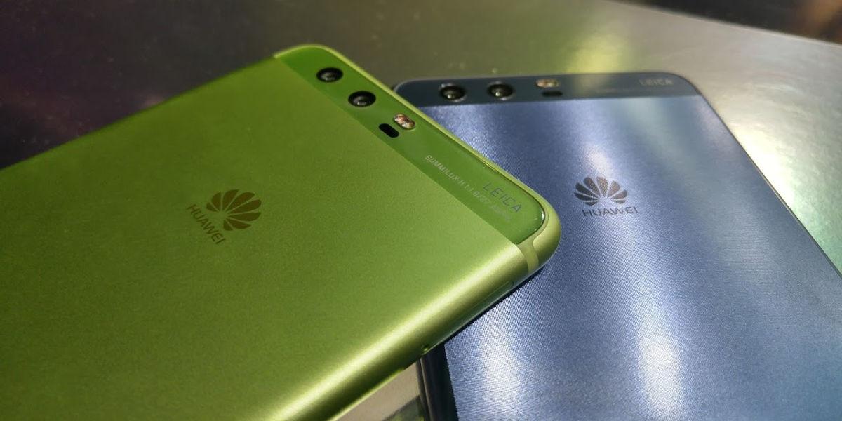 Huawei P10 verde y azul