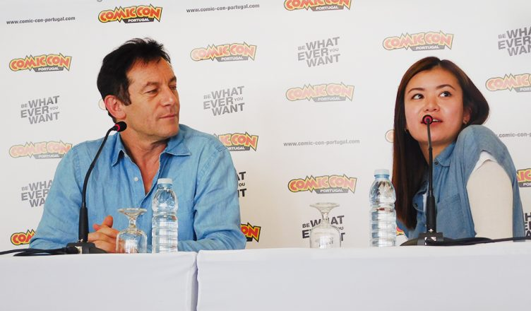 Jason Isaacs e Katie Leung