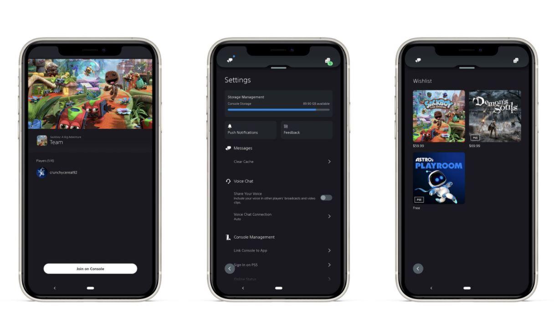 PS App april update screens