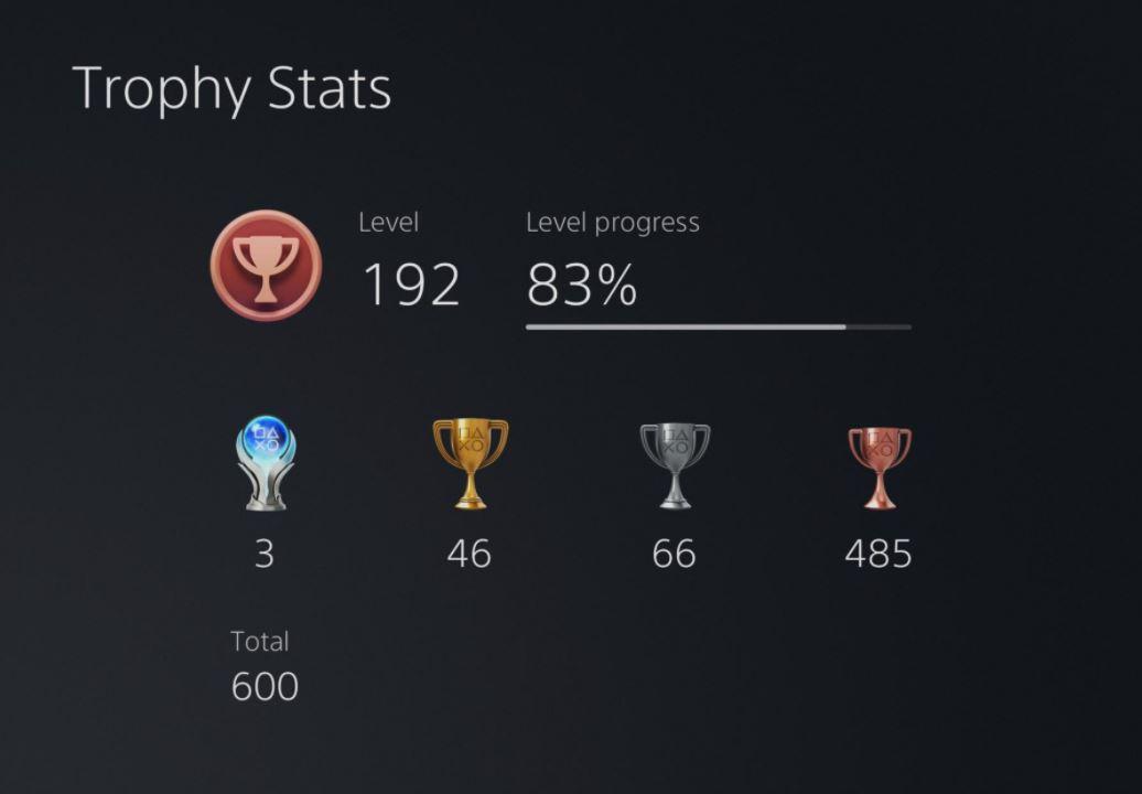 PS trophy stats
