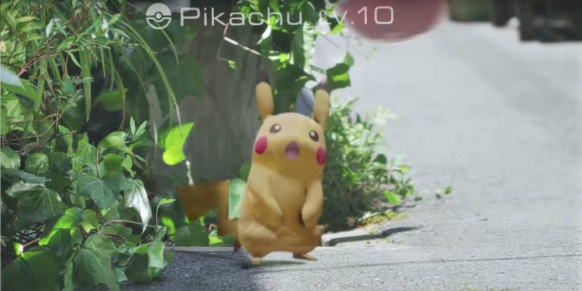 Pokémon Go capturar o Pikachu