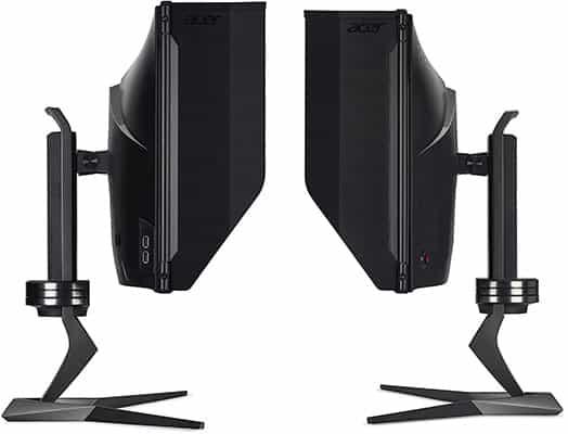 Review Acer Predator X27 design lateral