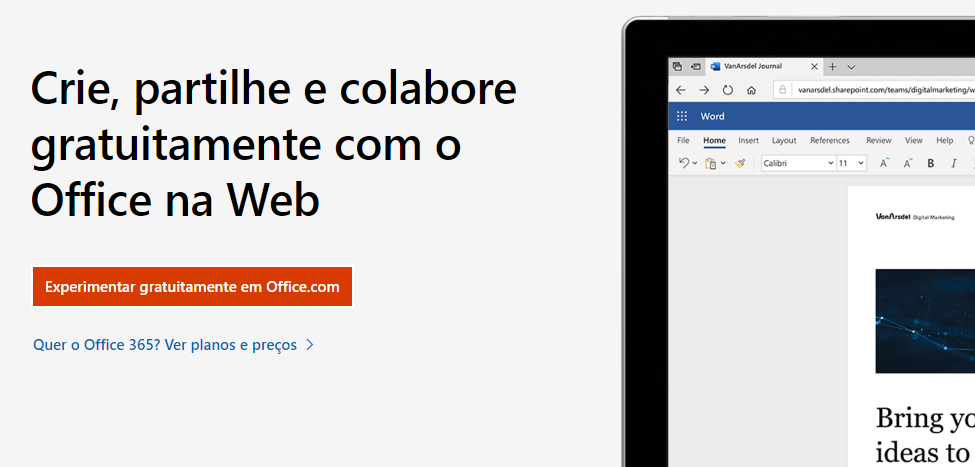 Utilizar Office 365 Grátis