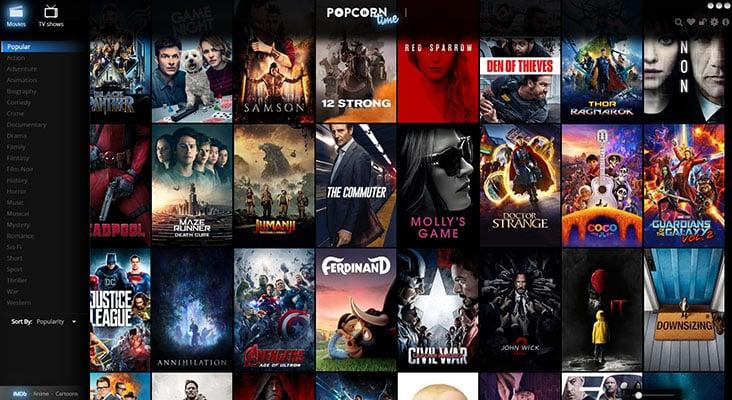 Ver Filmes Online legendados Popcorn Time
