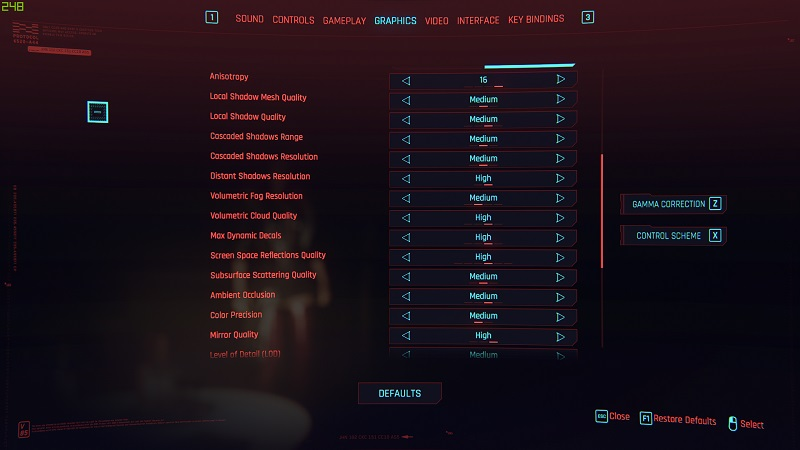 cyberpunk settings 2