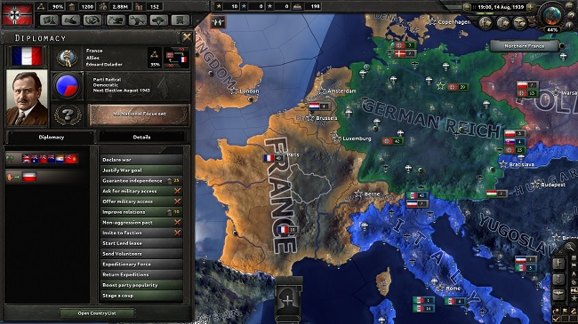 hearts of iron 4 diplomacia