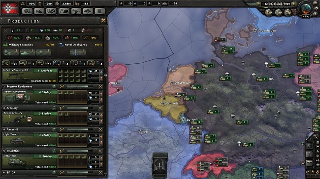 hearts of iron 4 produçao