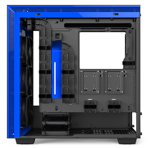 nzxt h700i matte black blue