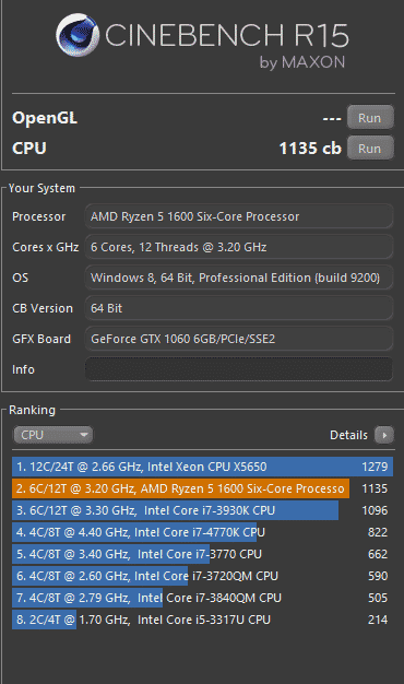 ryzen 5 cinebench